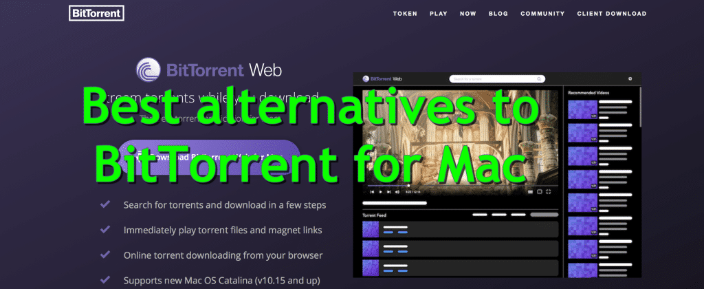 Best alternatives to BitTorrent for Mac
