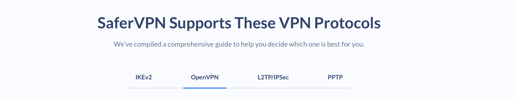 SaferVPN Protocols